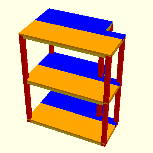 3D model of the shelf I'm about to build